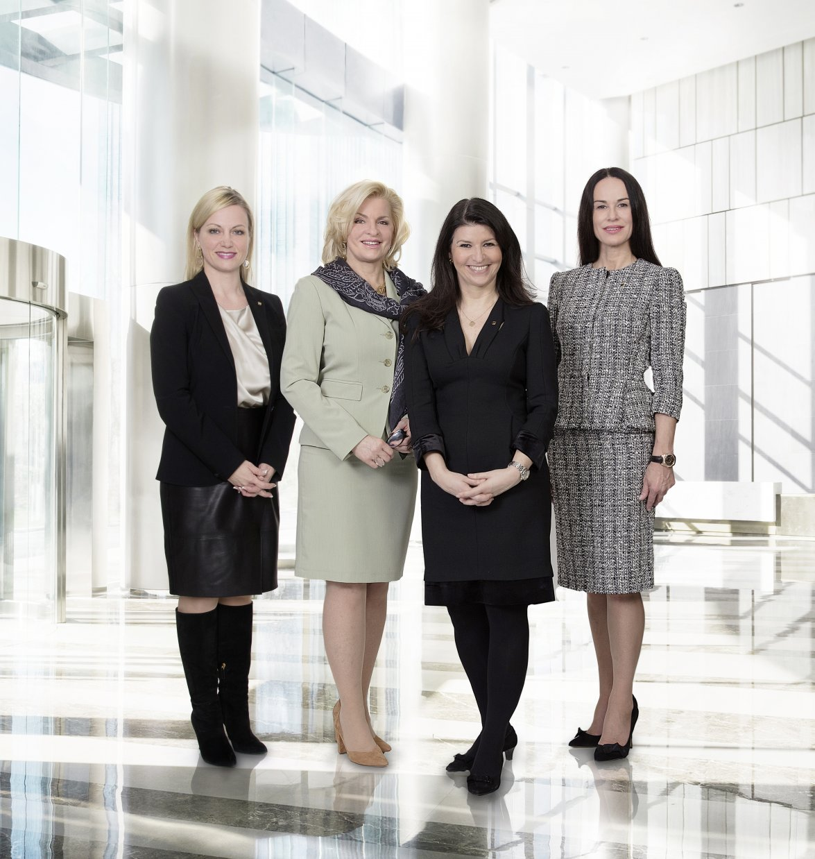 CEO ADMIRAL Casinos & Entertainment AG Dr. Monika Racek with the Members of the Supervisory Board Barbara Feldmann, Martina Flitsch and Martina Kurz